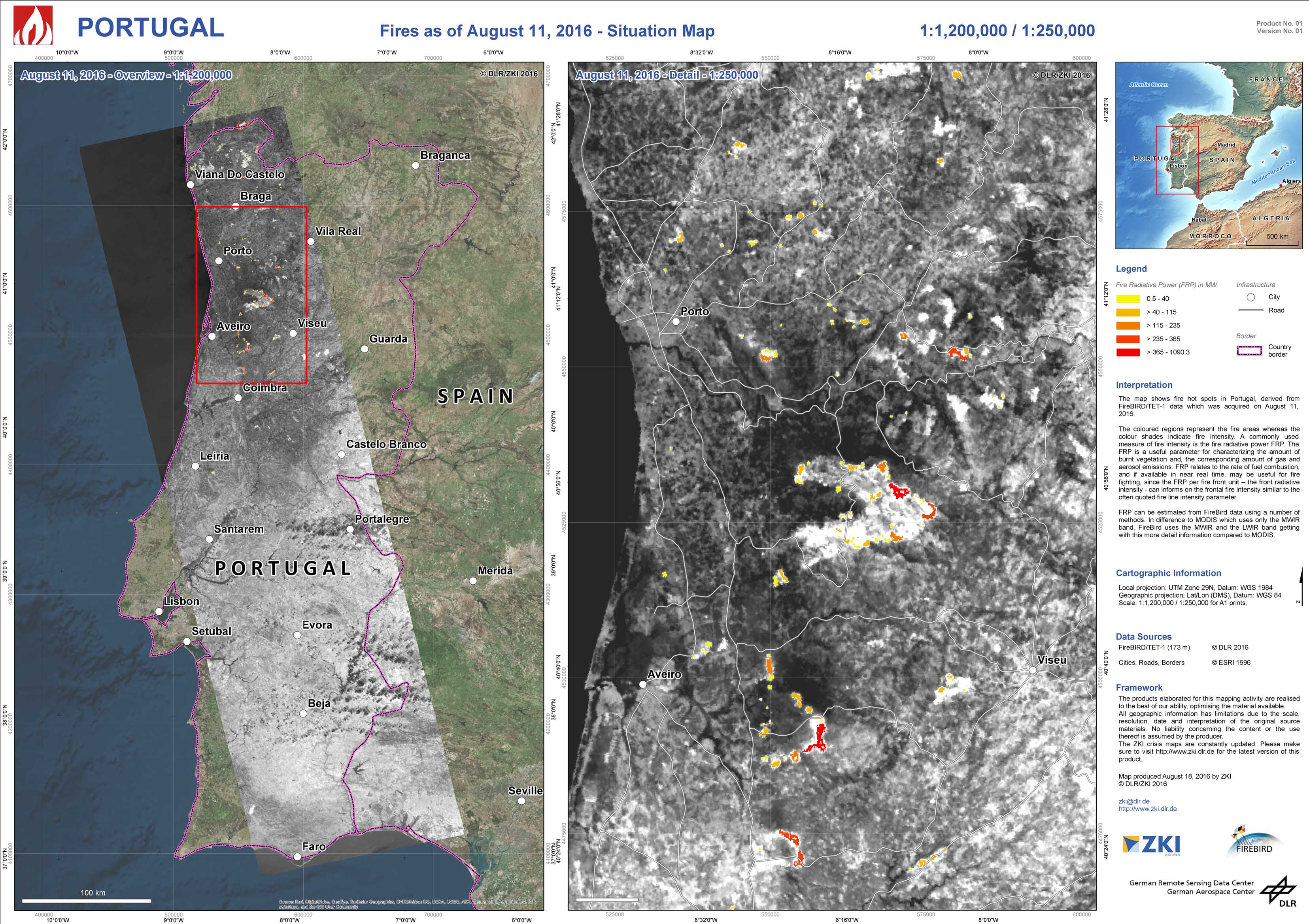 waldbrand portugal karte DLR   Earth Observation Center   Kontakt