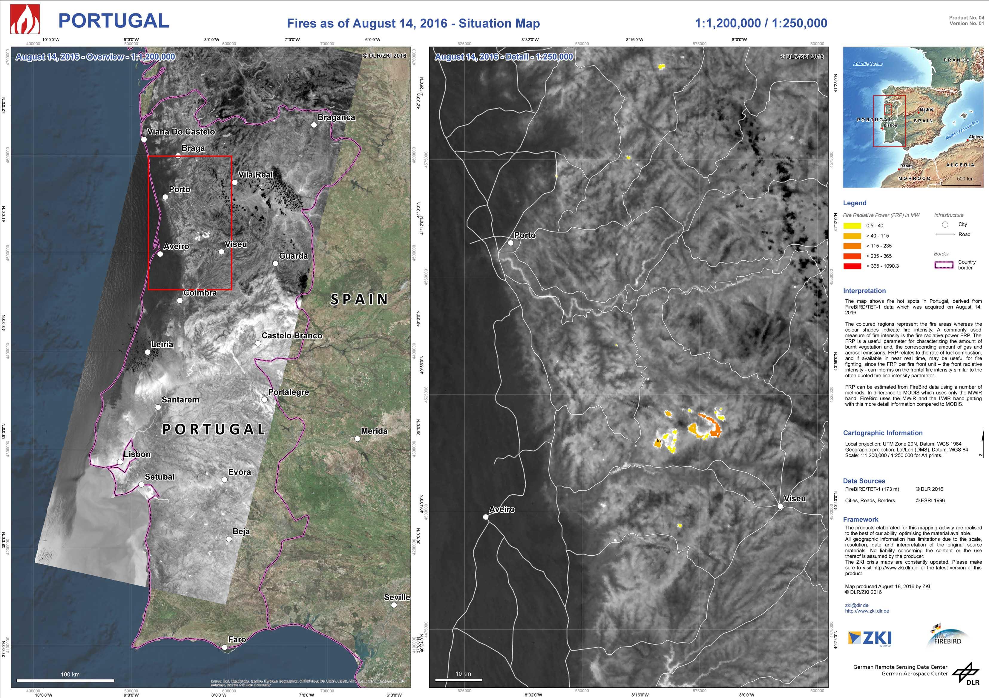 Waldbrände Portugal Karte.Dlr Earth Observation Center Kontakt